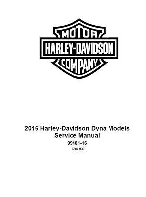 2016 Harley Davidson Dyna Models Factory Service Shop
