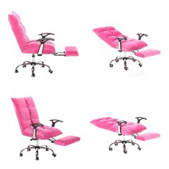 Ergonomic Chair Angle Pink Lounge Cushions Tatami Computer Office Desk High Back Adjustable
