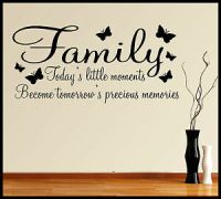 FAMILY WALL ART STICKER QUOTE WORDS PHRASES SAYINGS HOME ...