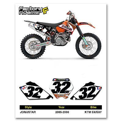 2005-2006 KTM SX-SXF J STAR Dirt Bike Graphics Motocross