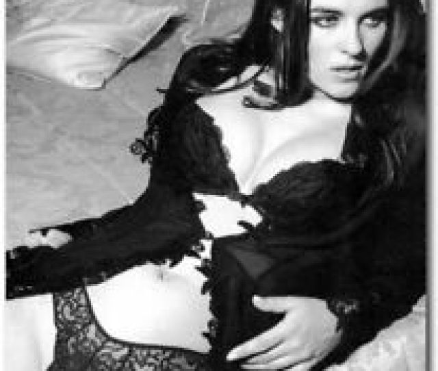 Elizabeth Hurley Sexy Black And White Refrigerator Magnets Size