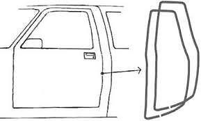 1988-1998 Chevrolet and GMC Pickup Truck Door Weatherstrip