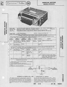 1958 AMERICAN MOTORS 8990494 RADIO SERVICE MANUAL