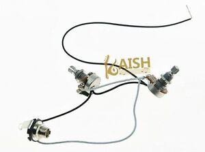 Bass Prewired Wiring Harness Alpha 500K w/ 16mm Pots 1V1T