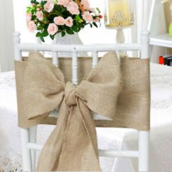 Chair Covers And Bows Ebay Metal Frame 25 Packs Burlap 6 X108 Cover Sashes Natural Jute Wedding Image Is Loading 034