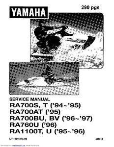Yamaha WaveRaider service manual 1995 RA1100T, 1996