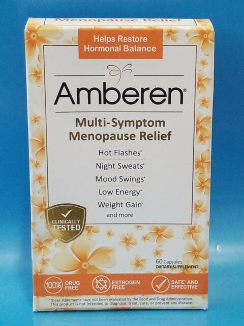 Amberen Menopause Relief Capsules 60-Count for sale online ...