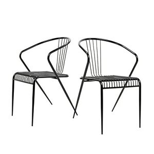 mid century modern wire chair garden design plans set of 2 replic side adjustable image is loading