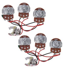 wiring harness prewired kit 250k pots 2v1t for jazz bass guitar parts set of 2 [ 1200 x 1200 Pixel ]