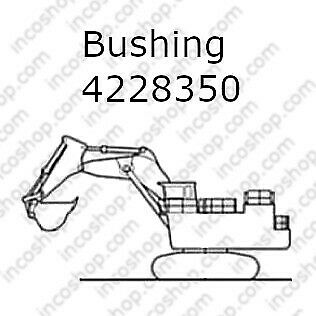 4228350 Bushing, Arm & Link Backhoe for Hitachi Excavators