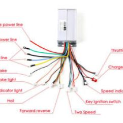 Electric Scooter Motor Controller Wiring Diagram For Sony Xplod Car Stereo 48v Bicycle E Bike Brushless Dc Image Is Loading