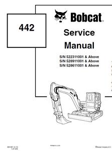Bobcat 442 Compact Excavator Service Manual Shop Repair PN
