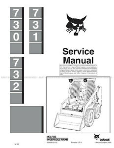 Bobcat 730 731 732 2012 Update Skid Steer Printed Service