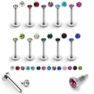10er Set Lippen Piercing Chirurgenstahl Labret Stablänge von 6mm/8mm 10 Farben