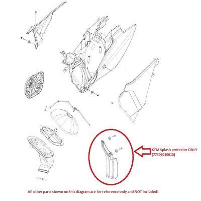KTM Splash Protector 125/250/300/450 EXC 2012 (77306010010