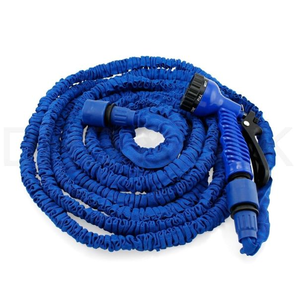 50 75 100 Feet Deluxe Expandable Flexible Garden Water Hose With Spray Nozzle