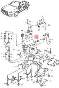 Genuine Ventilation valve black VW AUDI Beetle Convertible