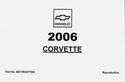 2006 Chevrolet Corvette & Z06 C6 Owner's Owners Owner