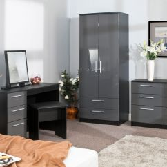 Grey Bedroom Chair Uk Batman Table And Set Furniture High Gloss On Black Wardrobe Chest