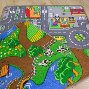 details sur recto verso fun bright kids play tapis route de voiture farm animal amusant enfants chambre a coucher afficher le titre d origine