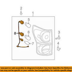 2016 Toyota Tundra Radio Wiring Diagram Field Dressing A Deer Harness Geen Ortholinc De Driver Side Rear Tail Light Wire 81565 0c070 Rh Ebay Com