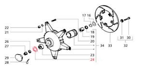 Piaggio Vespa PX Disc 125 150 200 Front Wheel Bearing