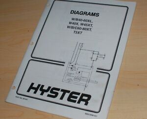 hyster forklift wiring diagram 7 pin trailer with brakes electrical schematic service manual image is loading