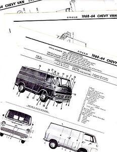 1964 1965 1966 1967 1968 CHEVROLET VAN G10 G20 MOTORS