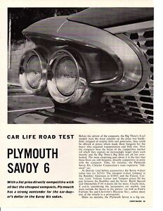 1961 Plymouth Savoy : plymouth, savoy, PLYMOUTH, SAVOY, 225/145, ORIGINAL, 5-PAGE, ARTICLE