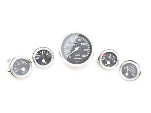 NEW WILLYS JEEP COMPLETE SPEEDOMETER+TEMP+OIL+FUEL+AMP
