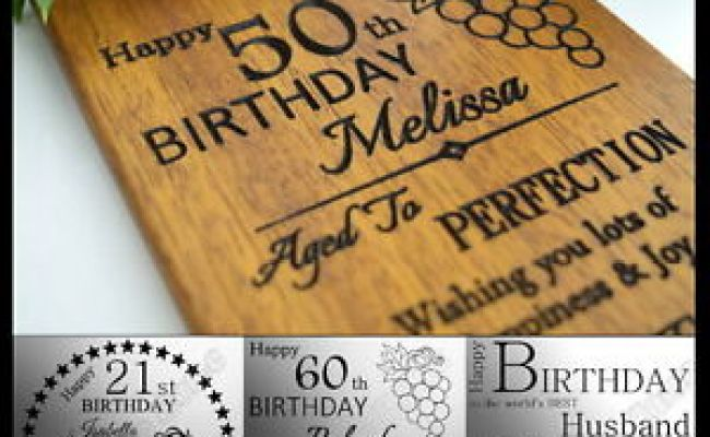 Personalised Birthday Card 21 30th 40th 50th 60th Gift For