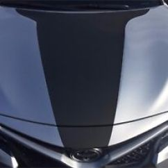 All New Camry 2018 Black Brand Toyota Muscle The Front Hood Decal Inlay Wrap Matte Image Is Loading