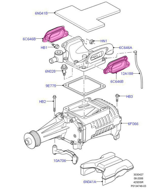 Jaguar S Type XJR XKR XF Supercharger Intake Air Connector