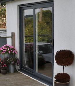 details about grey upvc sliding patio door 1700mm 1799mm wide