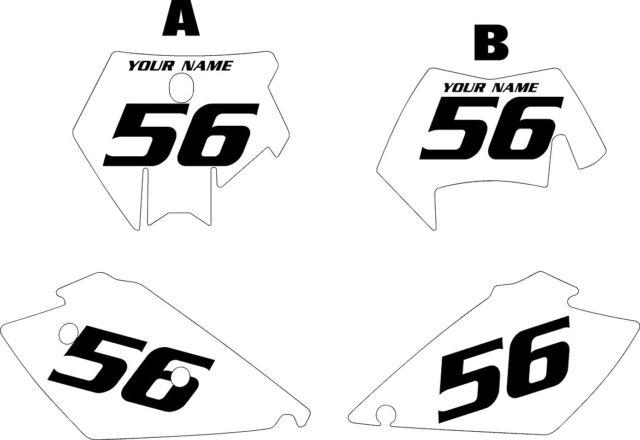 Fits KTM EXC 450-525 2005-2007 Pre-Printed White