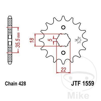JT Front Sprocket 14T 428 Pitch JTF1559.14 Yamaha TW 125 H