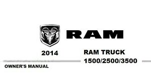 2014 Ram Truck 1500 2500 3500 Owner's Owner Owners User