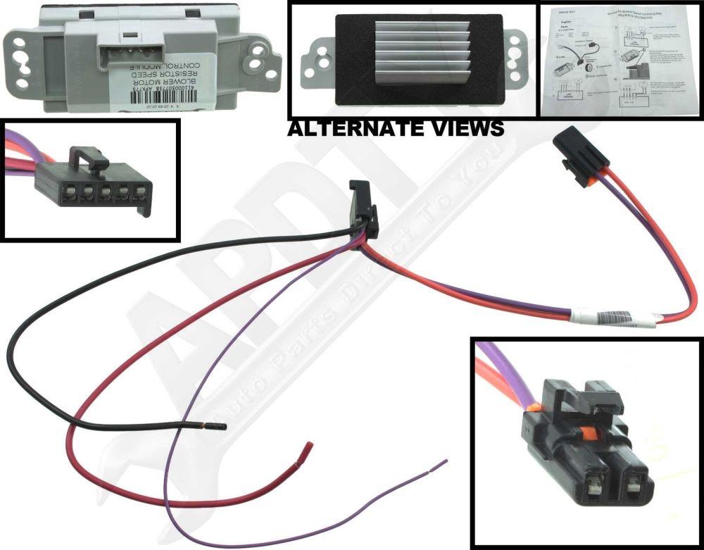 medium resolution of hvac blower motor resistor kit cxl apdty 112822 ebay blower motor wire color code 112822 blower motor resistor wiring diagram