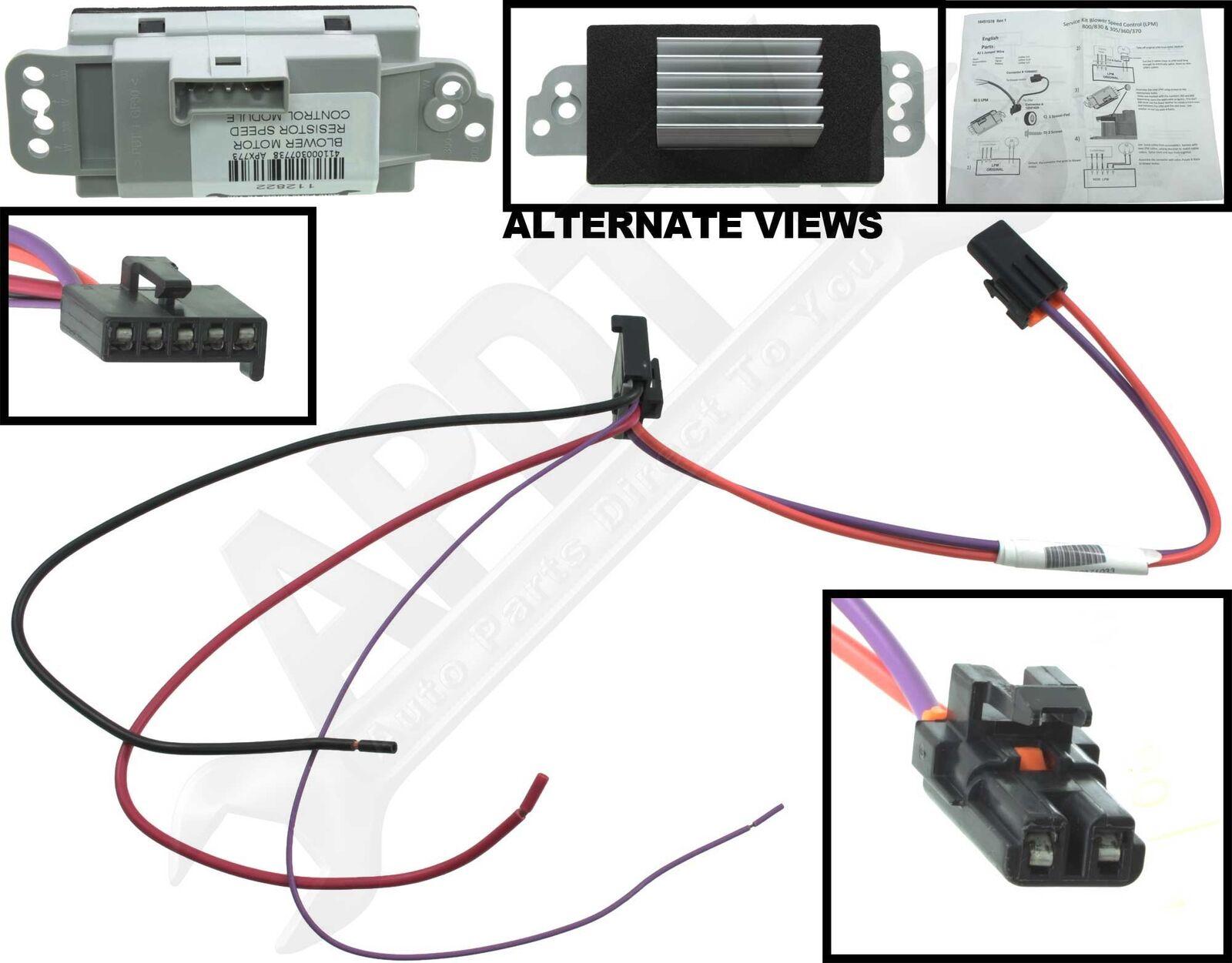 hight resolution of hvac blower motor resistor kit cxl apdty 112822 ebay blower motor wire color code 112822 blower motor resistor wiring diagram
