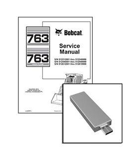 Bobcat 763, 763H Highflow Skid Steer Service Repair Manual