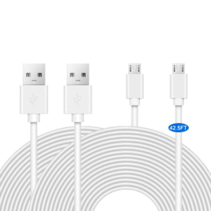 2 Pack 42.5Ft Power Extension Cable Wyze Cam Quick Charge