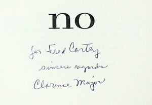 online on sale Clarence Major- NO (1973) Inscribed