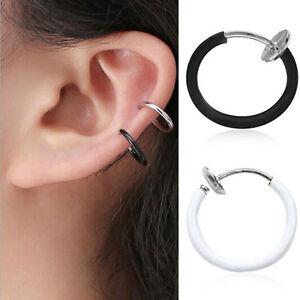 1Paar Nasenpiercing Fake Septum Spring Ring Piercing Nasenring Ohr Helix Hoop