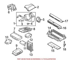 For BMW Genuine Fuse and Relay Center Base Center