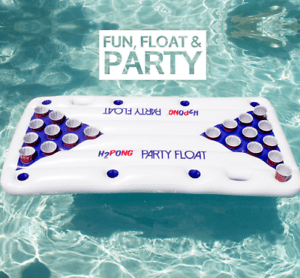 inflatable beer pong island