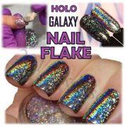 galaxy holo flake mirror chrome
