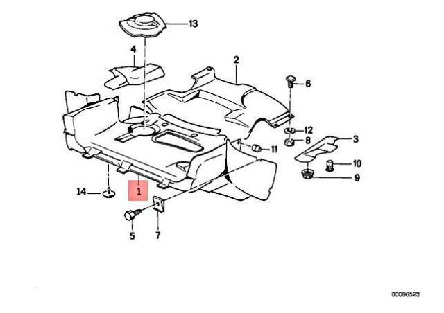 Genuine BMW E30 316 316i 318i 320i Engine Compartment