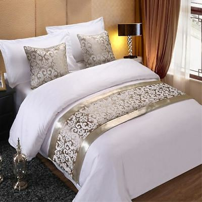 1 pcs champagne floral bedspreads bed runner throw bedding single queen king bed ebay