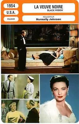 La Veuve Noire Film 1954 : veuve, noire, FICHE, CINEMA, VEUVE, NOIRE, Rogers,Heflin,Tierney,Johnson, Black, Widow