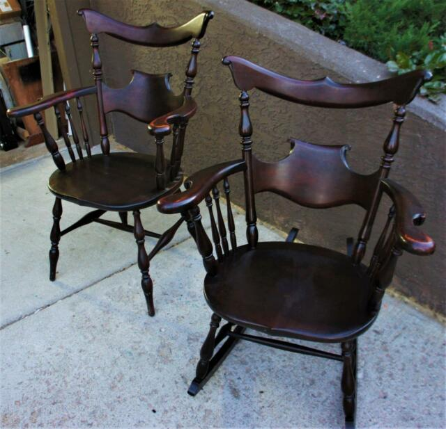 1920s rocking chair kitchen barstools chairs rare 1920 s j ford johnson co matching arm l